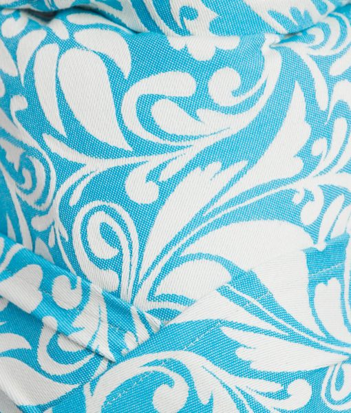 WRAP-TAI TWISTED LEAVES CREAM & TURQUOISE10