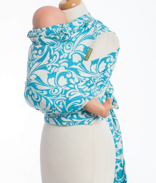 WRAP-TAI TWISTED LEAVES CREAM & TURQUOISE7