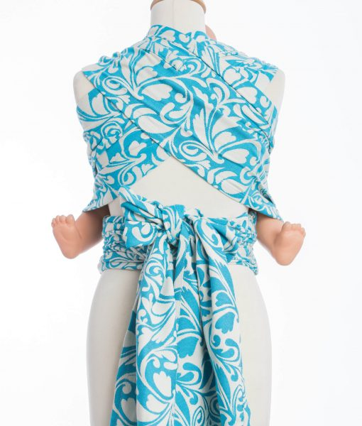 WRAP-TAI TWISTED LEAVES CREAM & TURQUOISE9