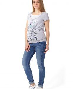 majica za dojenje siva